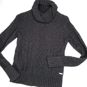 《Eddie Bauer》Cable Knit Sweater Wool
